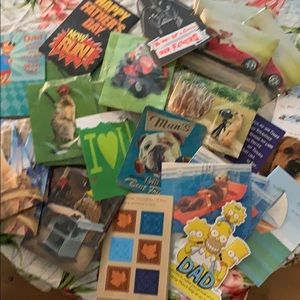More than 40 new never used Father's Day cards